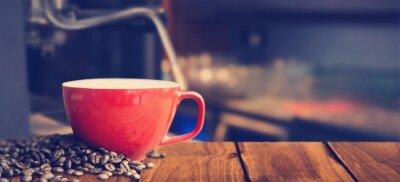 Fototapeta Kompozitní obraz z bílého hrnek na kávu