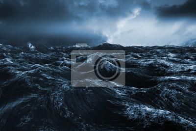 Fototapeta Kompozitní obraz z drsného modrý oceán