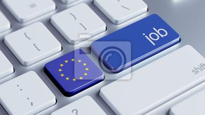 Koncept Evropské unie Job