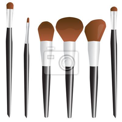 70f82155cdf Kosmetický štětec make-up set černý vektorové ilustrace fototapeta ...