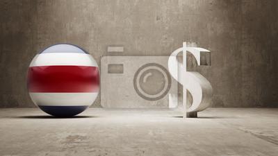 Kostarika. Peníze Sign koncept.