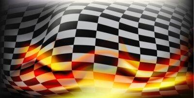 Fototapeta kostkovaný závod vlajky. Závodní vlajky. Pozadí šachovnicovým praporkem Pro