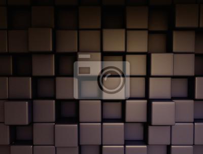 Fototapeta Kostky kovové tmavé pozadí