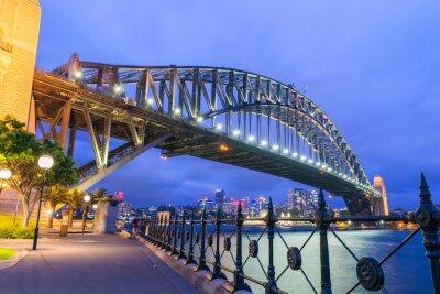 Fototapeta Kouzelný večer panorama Sydney, Austrálie