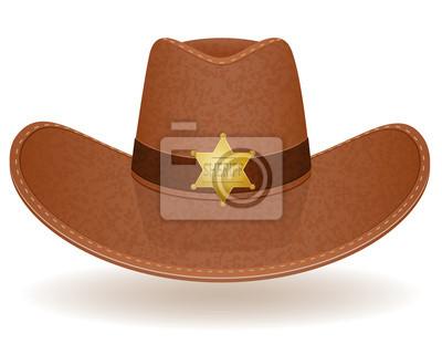 Kovbojský klobouk šerif vektorové ilustrace fototapeta • fototapety ... 06d1c983b4