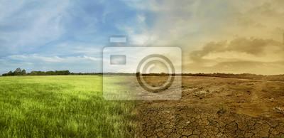 Fototapeta Krajina louce pole s měnícím se prostředí