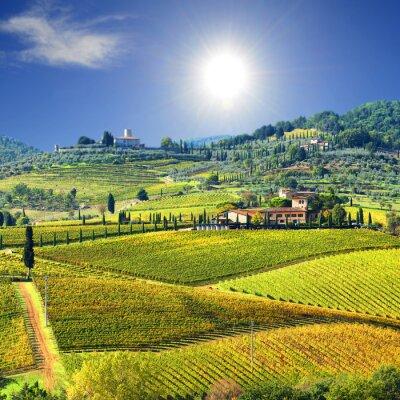 Fototapeta Krajina v Chianti regionu, Toskánsko, Itálie