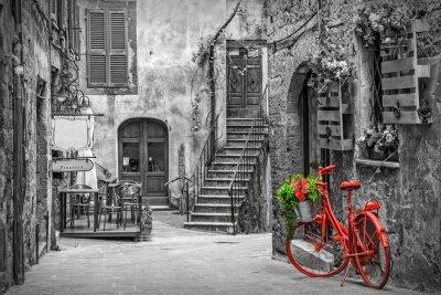Fototapeta Krásná alej v Toskánsku, staré město, Itálie