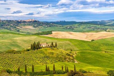 Fototapeta Krásná krajina v Toskánsku, Itálie
