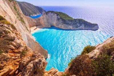 Fototapeta Krásná Navagio Beach (Shipwreck pláž) na ostrově Zakynthos, Řecko