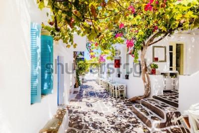 Fototapeta Krásná ulice na ostrově Paros, Řecko