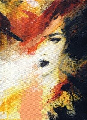 Fototapeta krásná žena. módní ilustrace. akvarelu