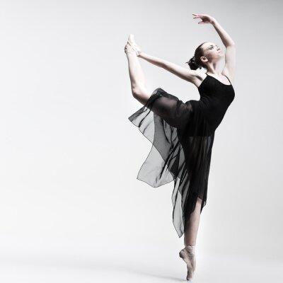 Fototapeta Krásné baletní tanečník na pozadí studio