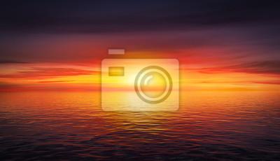 Fototapeta Krásné letní západ slunce
