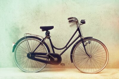 Fototapeta krásné staré rezavé kolo retro s úžasnou efektem barev na