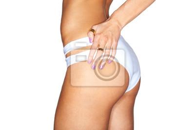 a98cfc45abe Fototapeta Krásné ženské tělo. sexy zadek v bílých plavání kalhoty.  izolovaných na bílém pozadí