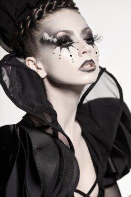 Fototapeta krásný model lodě jako šachová královna - fantasy make-up