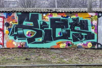 Fototapeta Krásný street art graffiti.