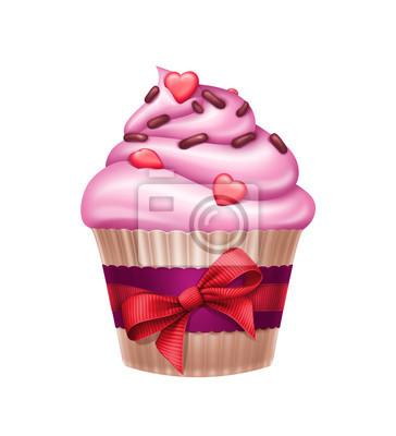 Fototapeta Krásný Valentýn svátek cupcake ilustrace