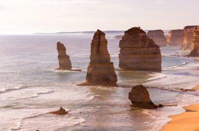 Fototapeta Krásný západ slunce pohled na pobřeží dvanácti apoštolů od Velkého oceánu