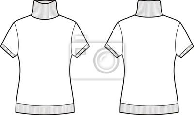 4447cd13bf3 Krátký-rukáv rolák fototapeta • fototapety pletené zboží