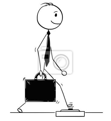 Kresleny Clovek Kresleni Koncepcni Ilustrace Uspesneho Podnikatele