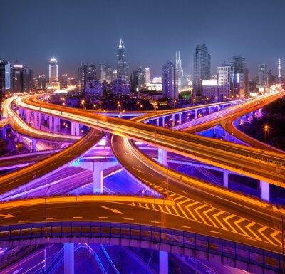 Fototapeta Kreuzung v Šanghaji