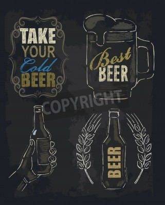 Fototapeta křída pivo