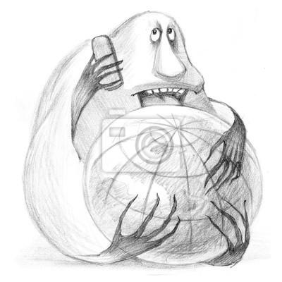 Krize Terorismus Netvor Kresli Tuzky Kresba Ruce Kresli