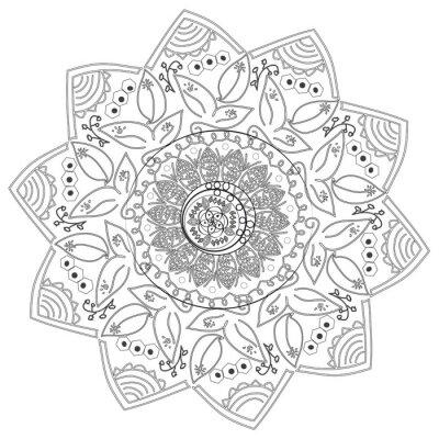 Fototapeta Kruhový abstraktní vzor z různých prvků.