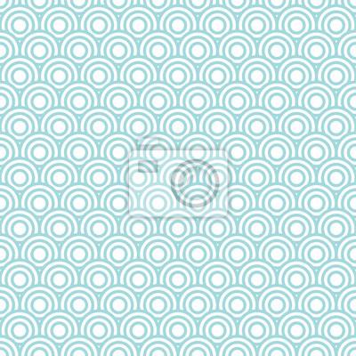 Fototapeta Kruhy vzor Retro bezproblémové Turquoise