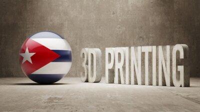 Kuba. 3D tisk Concept