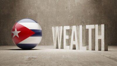 Kuba. Bohatství Concept.
