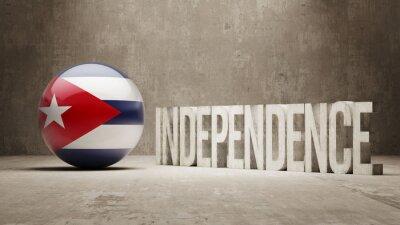 Fototapeta Kuba. Koncepce nezávislosti.