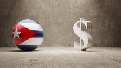 Kuba. Peníze Sign koncept.