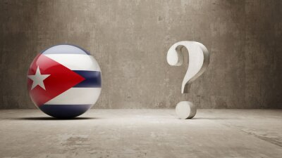 Kuba. Question Mark Concept.
