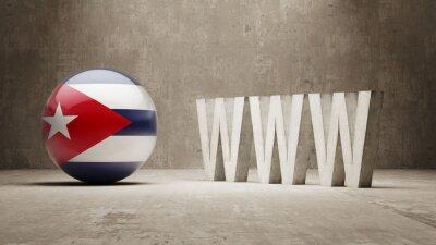 Kuba. WWW Concept.