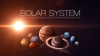 Fototapeta Kvalita Výška izolované sluneční soustavy planet. Prvky tohoto obrázku zařízený NASA