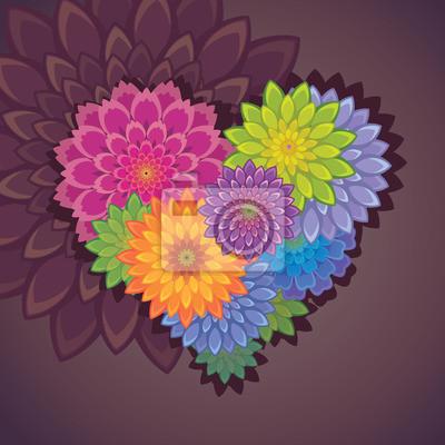 Fototapeta květ tvaru srdce