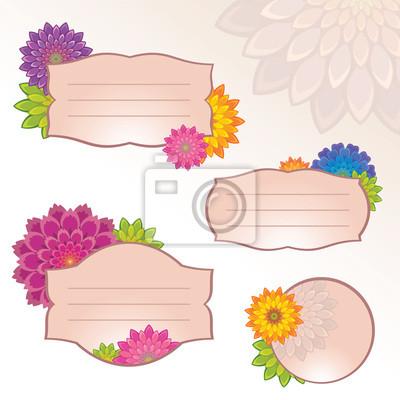 Fototapeta květina štítek nálepka tagů