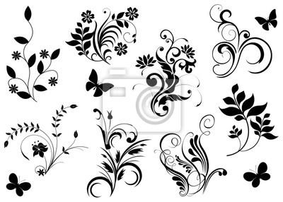 Fototapeta květinové dekorace