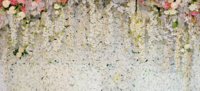 Fototapeta květinové pozadí. pozadí svatební dekorace. Vzor růží. Wall flower, barevné pozadí, čerstvé růže