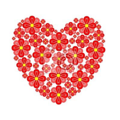 Fototapeta Květinové srdce