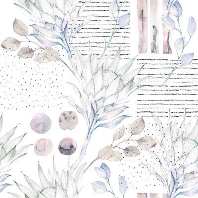 Fototapeta Květinový bezešvé vzor. Abstraktní akvarel ilustrace. Grunge pozadí
