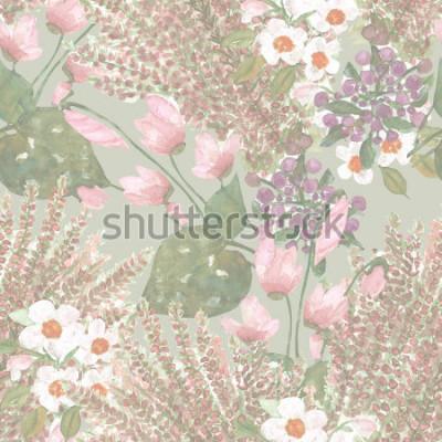 Fototapeta Květiny bezešvé vzor