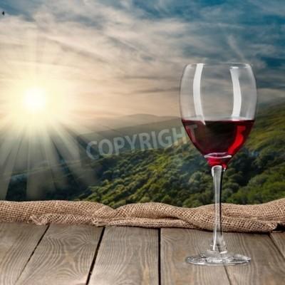Fototapeta Láhev na víno, víno, láhev.