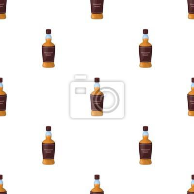 Lahev Skotske Whisky Ikony V Kresleny Styl Izolovanych Na Bilem