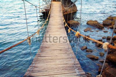 Fototapeta Lanový most