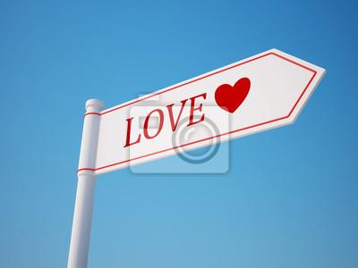 Láska rozcestník s ořezovou cestou