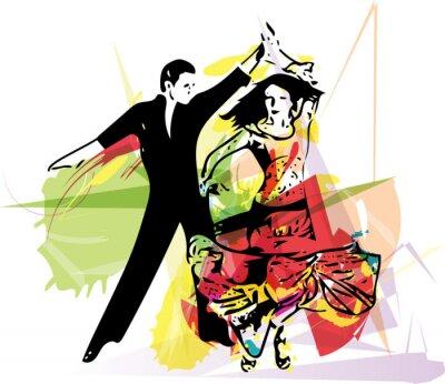 Fototapeta Latino Taneční pár